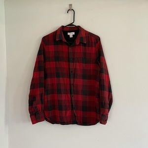 Calvin Klein Buffalo Plaid Button Down Shirt Sz M
